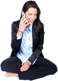 Personal Greetings with woman talking on the phone